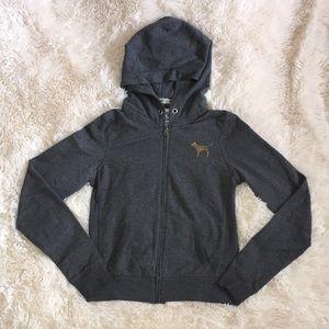 VICTORIAS SECRET PINK- Grey Long Sleeve Sweater